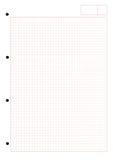 Papel com teste padrão quadrado imagem de stock