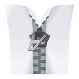 Papel com zipper Foto de Stock