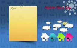 Papel como fondo para hacer su tarjeta de presentación o aviador libre illustration