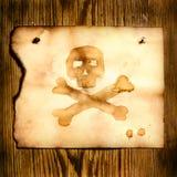 Papel con el cráneo y crossbones ilustración del vector