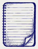 Papel con el cuaderno Fotos de archivo