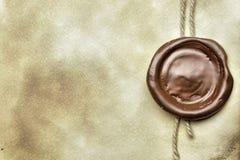 Papel con el sello de la cera Imagen de archivo
