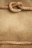 Papel con la frontera de la cuerda Imagen de archivo