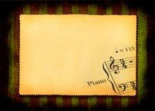 Papel con la parte de la nota de la música Foto de archivo
