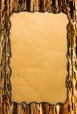 Papel con los bordes quemados Fotografía de archivo libre de regalías