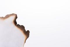Papel con los bordes quemados Imágenes de archivo libres de regalías