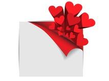 Papel con los corazones Fotos de archivo