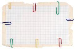 Papel controlado del cuaderno fotografía de archivo