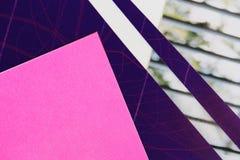 Papel cor-de-rosa e azul Foto de Stock Royalty Free