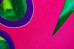 Papel cor-de-rosa, verde, e azul Fotos de Stock Royalty Free