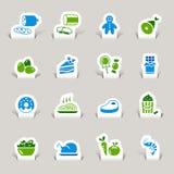 Papel cortado - iconos del alimento Imagen de archivo libre de regalías
