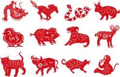 Papel-corte animal chino Imagen de archivo libre de regalías