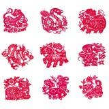 Papel-corte chino ilustración del vector