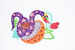 Papel-corte da serpente Imagem de Stock