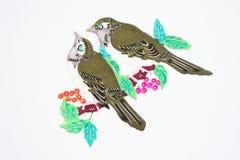 Papel-corte de pájaros Imágenes de archivo libres de regalías