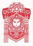 Papel-corte do teste padrão tradicional chinês Fotografia de Stock Royalty Free