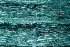 Papel crepom ciano da cor fotografia de stock
