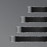 Papel curvado envuelto negro rasgado Gray Copy Space Fotos de archivo