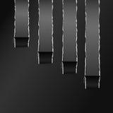 Papel curvado envuelto negro rasgado Gray Copy Space Imagen de archivo