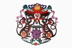 Papel-corte chino del arte del paño foto de archivo