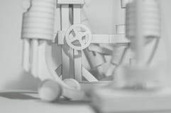 Papel 3D abstrato Imagens de Stock Royalty Free