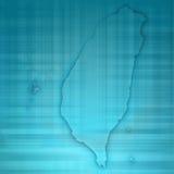 Papel 3D do cartão do mapa de Taiwan natural Imagens de Stock Royalty Free