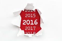 Papel 2016 da descoberta foto de stock