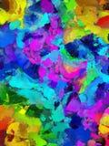 Papel da pasta: Redemoinhos roxos, azuis, e do preto ilustração stock