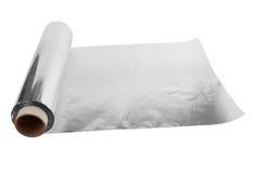 Papel de aluminio Imágenes de archivo libres de regalías