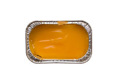 Papel de aluminio anaranjado de la torta Foto de archivo