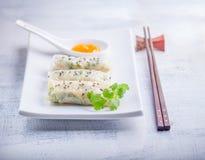Papel de arroz Rolls Foto de archivo libre de regalías