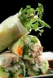 Papel de arroz vietnamiano Rolls 3 Fotografia de Stock