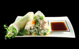 Papel de arroz vietnamiano Rolls   Fotografia de Stock Royalty Free