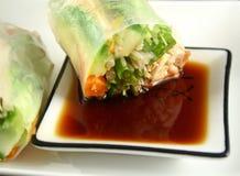 Papel de arroz vietnamita Rolls   Foto de archivo libre de regalías