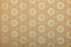 Papel de arte hecho a mano de la impresión amarillenta Foto de archivo libre de regalías