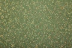 Papel de arte hecho a mano de los giros florales verdes Foto de archivo
