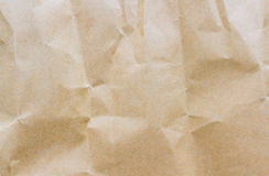 Papel de Brown arrugado Fotos de archivo libres de regalías