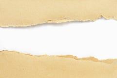 Papel de Brown rasgado Imagen de archivo