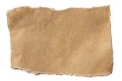Papel de Brown rasgado foto de archivo libre de regalías