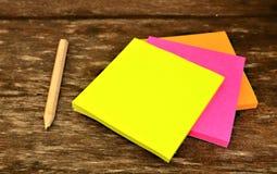 Papel de carta colorido Foto de archivo libre de regalías