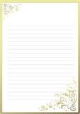 Papel de carta de lujo Foto de archivo libre de regalías