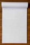 Papel de carta en el fondo de madera fotografía de archivo libre de regalías