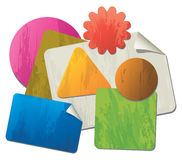 Papel de carta formado colorido Stock de ilustración
