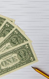 Papel de carta para el concepto financiero y de contabilidad imagen de archivo libre de regalías