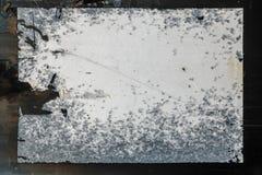 Papel de cartaz colado Grunge do anúncio público foto de stock