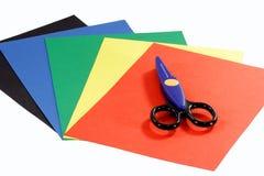 Papel de construção colorido Foto de Stock