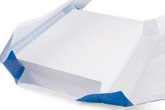Papel de copia blanco Imagen de archivo libre de regalías
