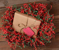 Papel de crespón del regalo de Navidad Imagen de archivo