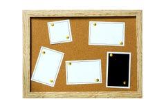 papel de cubierta de madera del boletín del tablero imágenes de archivo libres de regalías