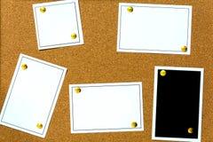 papel de cubierta de madera del boletín del tablero imagen de archivo